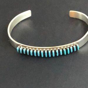 Jewelry - Turquoise Silver Zuni Sterling Cuff Bracelet